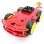โครงรถ หุ่นยนต์ 4WD สีแดง smart car chassis thumbnail 1