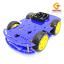 โครงรถ หุ่นยนต์ 4WD สีน้ำเงิน smart car chassis thumbnail 6