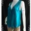 """jp1597-เสื้อ silk นำเข้า สีเขียว DIANE GILMAN """"อก 36 นิ้ว"""" thumbnail 2"""