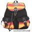 กระเป๋าสะพายหลังฮอกวอตส์สีดำ แทบสีชมพูบานเย็นสลับเหลือง thumbnail 7