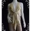 "jp1374-เสื้อแฟชั่น silkนำเข้า สีน้ำตาลลายจุด NEWPORT NEW ""อก 34 นิ้ว"" thumbnail 1"