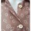 jp4895-เสื้อผ้าชีฟอง นำเข้า สีน้ำตาลอ่อน อก 34 นิ้ว thumbnail 4