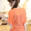 เสื้อทำงานทูโทน ลายฟันปลา สีส้ม พร้อมเสื้อกล้ามด้านใน ผ้าชีฟอง thumbnail 2