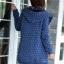 sweater เสื้อกันหนาว สีน้ำเงินเข้ม ลายหัวใจเล็กๆ มีฮู้ด thumbnail 6