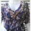 VJP5590--เดรสแฟชั่น หรือเสื้อตัวยาว ชีฟอง ลาย อก free thumbnail 2
