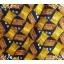 neck0027-เนคไทแบรนด์มือสอง Ermenegildo Zegna สีเหลือง-น้ำตาล-ดำ ลายกราฟิค thumbnail 2