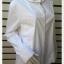 jp4836-เสื้อแฟชั่น นำเข้า สีขาว apostrophe อก 43 นิ้ว thumbnail 2