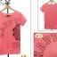 เสื้อยืดสีชมพูสกรีนคำว่า HAPPY จั๊มปลายแขนและชายเสื้อเล็กน้อย thumbnail 5