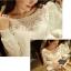 [พร้อมส่ง] เสื้อผ้าลูกไม้สีขาวเนื้อดี ซับในในตัว รอบอกประดับด้วยคริสตัลสวยเก๋ ใส่ได้หลายโอกาส A221 thumbnail 8