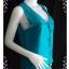 """jp1597-เสื้อ silk นำเข้า สีเขียว DIANE GILMAN """"อก 36 นิ้ว"""" thumbnail 3"""