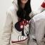 เสื้อกันหนาว สีขาว สกรีนรูปมิกกี้เม้าส์ มีฮู้ดๆมีหู (สกรีนหลัง Mickey Mouse) thumbnail 5