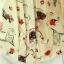 เสื้อคอจีน จับจีบด้านหน้า ลายน่ารัก แขนระบาย โทนสีขาว thumbnail 4