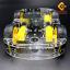 โครงรถ หุ่นยนต์ 4WD สีใส smart car chassis thumbnail 2
