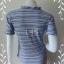 jp3964-เสื้อแฟชั่น สวยๆ สีฟ้าน้ำเงินลายทาง อก 32-34 นิ้ว thumbnail 3