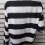 เสื้อเขิ้ต มือสอง สีขาวดำ แบรนด์ H&M อก 42 นิ้ว thumbnail 4