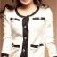 เสื้อคลุม สีขาว แต่งกุ๊นสีดำและกระเป๋าเก๋ไก๋ thumbnail 3