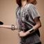 เสื้อยืดเด็กแนว สีเทาเข้ม คอคลมแขนสั้น อินเทรนสุดๆ thumbnail 2
