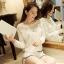 [พร้อมส่ง] เสื้อผ้าลูกไม้สีขาวเนื้อดี ซับในในตัว รอบอกประดับด้วยคริสตัลสวยเก๋ ใส่ได้หลายโอกาส A221 thumbnail 10