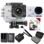 Sj5000 WiFi+Micro SD Kingston 32GB+Battery+Dual Charger+Monopod+Bag (Black) thumbnail 1