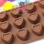 แม่พิมพ์ซิลิโคน พิมพ์วุ้น สำหรับทำขนม ลายหัวใจมีขอบ 15 ช่อง thumbnail 2