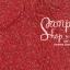 เชือกร่ม สีแดงดิ้นเงิน thumbnail 1