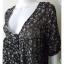 Dress0298--เดรสแฟชั่น นำเข้า สีดำลายตารางขาวแดง thumbnail 5