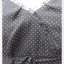 VJP5635--เดรสแฟชั่น ชีฟอง สีดำลายจุด อก 33 นิ้ว thumbnail 3