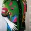 jp4224-เสื้อเชื้ตแฟชั่น นำเข้า สีเขียวลาย 30 ans อก 40 นิ้ว thumbnail 2