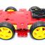 โครงรถ หุ่นยนต์ 4WD สีแดง smart car chassis thumbnail 4