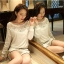 [พร้อมส่ง] เสื้อผ้าลูกไม้สีขาวเนื้อดี ซับในในตัว รอบอกประดับด้วยคริสตัลสวยเก๋ ใส่ได้หลายโอกาส A221 thumbnail 7
