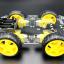 โครงรถ หุ่นยนต์ 4WD สีใส smart car chassis 1 ชั้น thumbnail 5