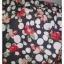 BNS0346--เดรสเกาะอก มือสอง สีเทาดำ ลายดอกไม้ CPS อก 28-34 นิ้ว thumbnail 5