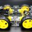 โครงรถ หุ่นยนต์ 4WD สีใส smart car chassis thumbnail 4