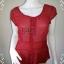 เสื้อแฟชั่น ชีฟอง สีแดง ANN taylor อก 36 -37 นิ้ว thumbnail 1