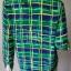 """jp3749-เสื้อแฟชั่น silk สีเขียวลายน้ำเงิน ROBBLE BEE """"อก 38 นิ้ว"""" thumbnail 3"""