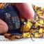neck0027-เนคไทแบรนด์มือสอง Ermenegildo Zegna สีเหลือง-น้ำตาล-ดำ ลายกราฟิค thumbnail 5