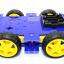 โครงรถ หุ่นยนต์ 4WD สีน้ำเงิน smart car chassis thumbnail 2
