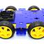 โครงรถ หุ่นยนต์ 4WD สีน้ำเงิน smart car chassis thumbnail 3