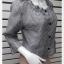 jp5009-เสื้อแฟชั่น ชีฟอง นำเข้า สีขาวลายดำ อก 40 นิ้ว thumbnail 2