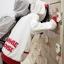 เสื้อกันหนาว สีขาว สกรีนรูปมิกกี้เม้าส์ มีฮู้ดๆมีหู (สกรีนหลัง Mickey Mouse) thumbnail 4
