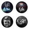 ของที่ระลึกวง Korn เลือกด้านหลังได้ 4 แบบ เข็มกลัด, แม่เหล็ก, กระจกพกพา หรือ พวงกุญแจที่เปิดขวด 1 แพ็ค 4 ชิ้น [9]