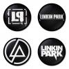 ของที่ระลึกวง Linkin Park เลือกด้านหลังได้ 4 แบบ เข็มกลัด, แม่เหล็ก, กระจกพกพา หรือ พวงกุญแจที่เปิดขวด 1 แพ็ค 4 ชิ้น [15]