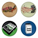 Sonic Youth button badge 1.75 inch custom backside 4 type Pinback, Magnet, Mirror or Keychain. Get 4 in package [1]