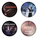 Imagine Dragon button badge 1.75 inch custom backside 4 type Pinback, Magnet, Mirror or Keychain. Get 4 in package [8]