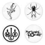 My Chemical Romance button badge 1.75 inch custom backside 4 type Pinback, Magnet, Mirror or Keychain. Get 4 in package [7]