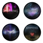 Evanescence button badge 1.75 inch custom backside 4 type Pinback, Magnet, Mirror or Keychain. Get 4 in package [8]