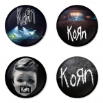 Korn button badge 1.75 inch custom backside 4 type Pinback, Magnet, Mirror or Keychain. Get 4 in package [9]
