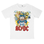 AC/DC rock band t shirts white tees cotton 100 S M L XL XXL [5]