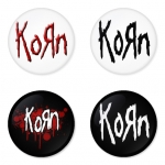 Korn button badge 1.75 inch custom backside 4 type Pinback, Magnet, Mirror or Keychain. Get 4 in package [10]
