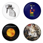 Coldplay button badge 1.75 inch custom backside 4 type Pinback, Magnet, Mirror or Keychain. Get 4 in package [3]